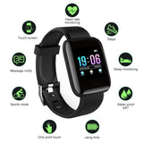 3Colors New Smart Watch Bluetooth Sports Watch USB Rechargeable Heart Rate Oxygen Pressure Sleep Monitor  Wristwatch Wearable Device For IOS Android Phone