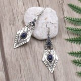 Retro 925 Silver Ethnic Style Lady Eardrop Female Jewelry Gift