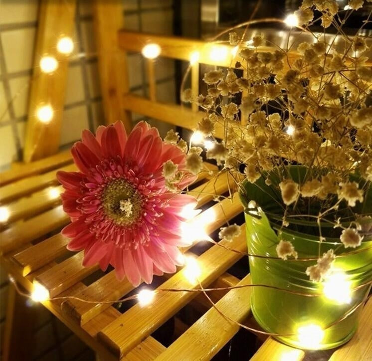 2 Pcs 20 Leds 2m String Light Mini Fairy Night Light Bedroom Lamp Wine Cork Lights