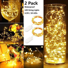 Load image into Gallery viewer, 2 Pcs 20 Leds 2m String Light Mini Fairy Night Light Bedroom Lamp Wine Cork Lights