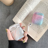 4 Colors Marble Pattern Hard PC Case Protector for Airpods Wireless Earphone Earbuds Case Protector