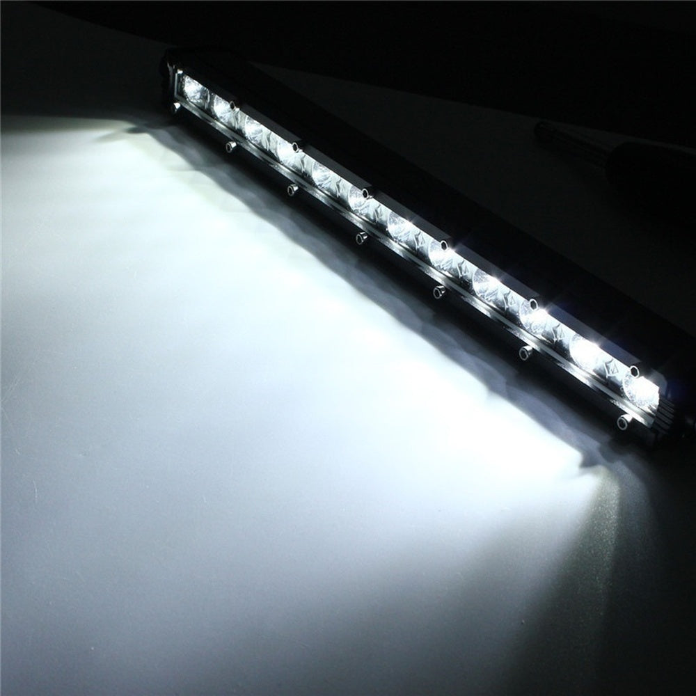 36W 16200LM 12LED Outdoot Lighting 13Inch LED Spot Beam Lamp Driving Offroad Work Light Bar for SUV JEEP Hunting Fishing Boating IP67 9-32V DC