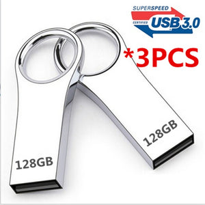Real capacity 3PCS USB 3.0 flash drive metal USB flash drive 128GB-64GB pen drive Pendrive Flash Memory USB Stick U disk storage