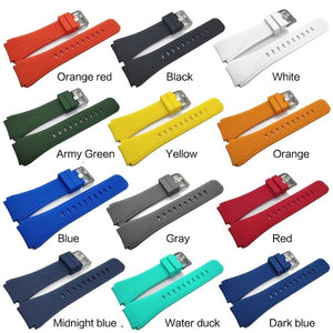 Soft Silicone Replacement Watch Band Wrist Strap Sport Watch Bracelet Belt For Samsung Galaxy Watch 46MM/Samsung Gear S3/Samsung Gear2 R380/Samsung Gear2 Neo R381/Samsung Live R382 PVN