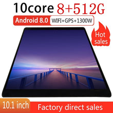 Load image into Gallery viewer, 10.1 Inch Tablets Android Wifi Tablet Pc with 8+512GB  Large Memory MTK6797 Dual SIM Cards Phone 4G Call Wifi Tablets PC Adroid Tablet Cheap Tablets Pc