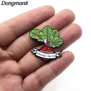 C579 1 Pcs Funny Metal Enamel Pins and Brooches for Women Fashion Lapel Pin Backpack Bags Badge Gifts