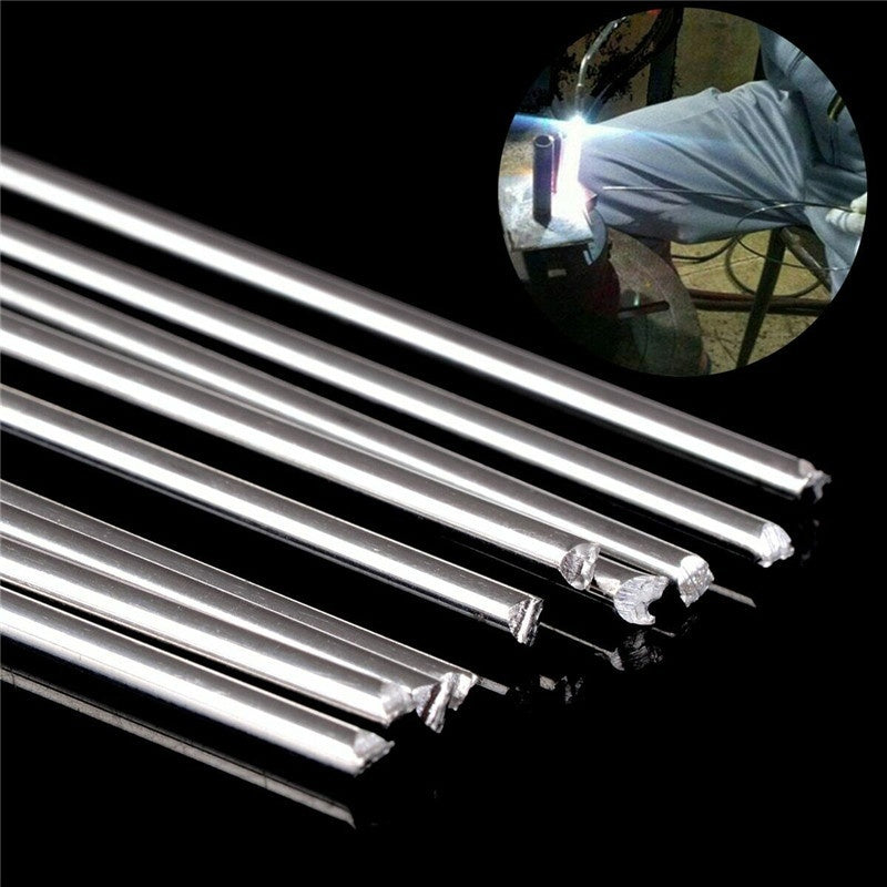 10/20PCS Low Temperature Aluminum Welding Solder Wire Brazing Repair Rods (Size:500mm*1.6mm/500mm*2.0mm)