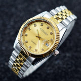 CITIZEN Men Gold Quartz Watch Stainless Steel Band Wrist Watch Luxury Diamond Business Watch