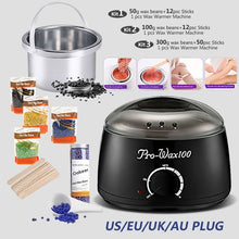 Load image into Gallery viewer, Professional Waxing Hair Removal 500cc Black Kit Electric Oakeer Depilatory Tool Wax Warmer Heater Rapid Melt At Home Waxing for Girls & Women & Men with Hard Wax Beans Applicator Sticks Wax Warmer Machine
