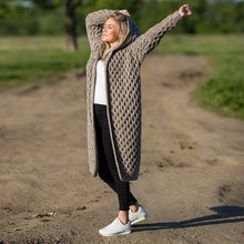 Load image into Gallery viewer, Winter Warm New Fashion Women ladies Long Knitted Sweater Hoodie Cardigan Coat