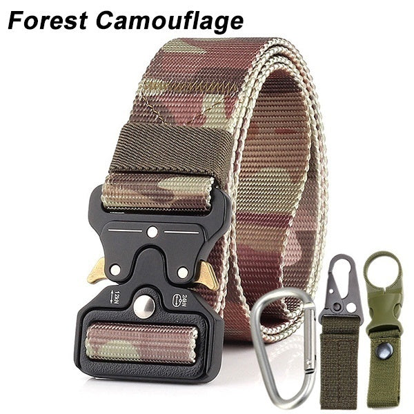 2019 New 3.8cm Breathable Tactical Belt Male Army Fan Tactical Belt Outdoor Training Belt Three-piece