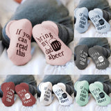 Newborn Baby Funny Letter Printed Short Socks cute Comfortable A Level Cotton Soft Socks 4 Season Infant Toddler Boys Girls Socks Baby Stuff General Size 4 Colors