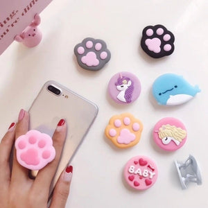 Universal Cartoon Phone Holder 3D Finger Grip Expanding Phone Stand Phone Bracket Cellphone Support Mobile Phone Stand  for Samsung