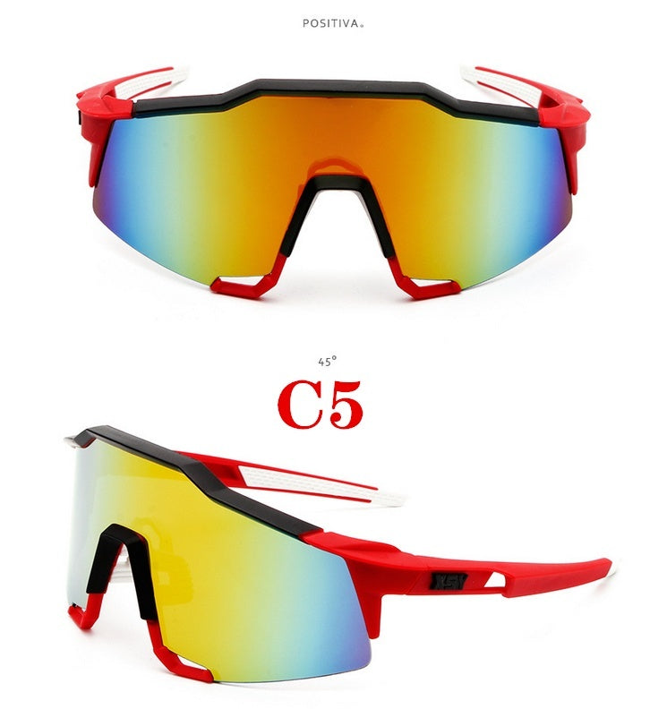 Hot 2019 New Men's Cycling Glasses Colorful Sunglasses Sunglasses Bikes Windproof Sunglasses Outdoor Sports Glasses