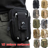 1Pc Men Tactical Belt Fanny Pack Waist Pouch for Outdoor Cycling Phone Pocket