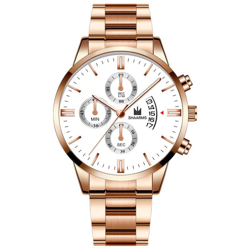 Fashion Luxury Men's Stainless Steel Watch Date Calendar Quartz Watch Business Casual Watch Men's Clock Reloj Hombre