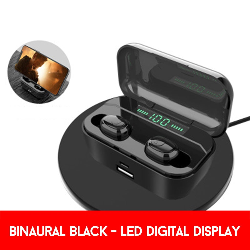 [3500mAh+CVC8.0 Noise Reduction]  Fingerprint Touch TWS Earbuds 8D HIFI Stereo bluetooth 5.0 Earphones Binaural/Single Ear IPX7 Waterproof Sports Battery Indicator/LED Digital Display