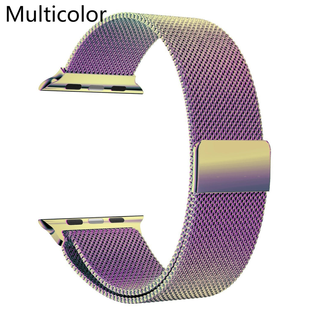 Milanese Loop Band Watch Strap Designed for iWatch 40mm 44mm 38mm 42mm for Apple Watch Series 1/2/3/4 Stainless Stell Adjustable Bracelet Watchbands