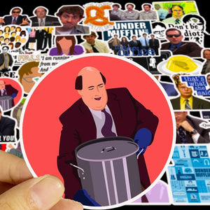 50pcs/set America TV The Office Cartoon Sticker Waterproof For Laptop Motor Skateboard Luggage Guitar Furniture Decal Toy Stickers