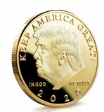 Donald J Trump 2020 Keep America Great Commander In Chief Gold Challenge Coin EN