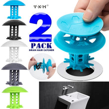 Load image into Gallery viewer, 2PACK TXM Drain Hair Catcher Bathtub/Sink Drain Hair Catcher,2 in 1 Bathtub Drain Protector for Shower