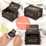 32 Types Antique Carved Box Wooden Hand Crank Music Boxes Crafts Birthday Gifts