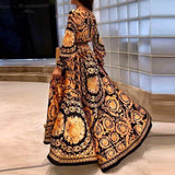 Women Floral Print Spring Boho Dresses 2020 New Long Sleeve V Neck Long Dress Party Beach Holiday Club Dresses Sundress