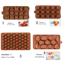 Load image into Gallery viewer, 28 Style Chocolate Silicone Mold 3D Chocolate Baking Tool Non-stick Silicone Cake Mold Jelly and Candy DIY Mold