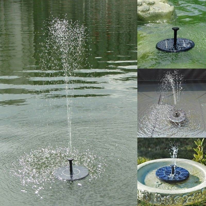 New Mini Solar Floating Water Fountain for Garden Pond Pool Decoration