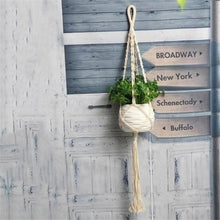 Load image into Gallery viewer, 90/105/122cm Vintage Decor Macrame Plant Hanger Basket Flowerpot Plant Holder Macrame Hanging Knotted Lifting Rope Garden Home Garden Decor