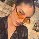 2019 New Women Rectangle Sunglasses Luxury Brand Designer Red Pink Clear Small Lens Personality Sun Glasses Shades UV400
