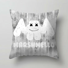 Load image into Gallery viewer, 1PC DJ Singer Marshmello Print Pillowcase Bedroom Sofa Waist Cushions Cover Fronha Federa Funda De Almohada Pillow Sofa Car Bed Sofa Pillow Case Bedroom Decoration Cushion Cover(Without Inner)