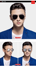Load image into Gallery viewer, Aviation Metail Oversized Quality Frame Spring Leg Alloy Brand Design Men Polarized Sunglasses Pilot Male Driving Sunglasses