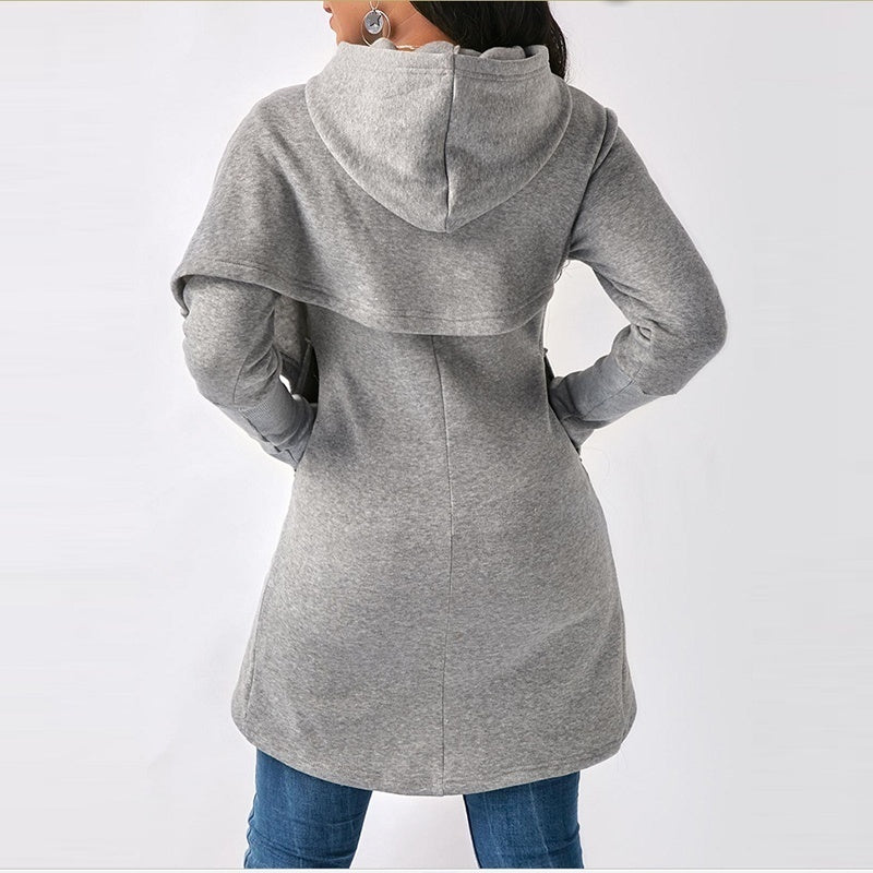 2019 Autumn Winter Women Sweater Coat Long Sleeve Hooded Sweater Hoodies Lady Casual Hooded Sweatshirts