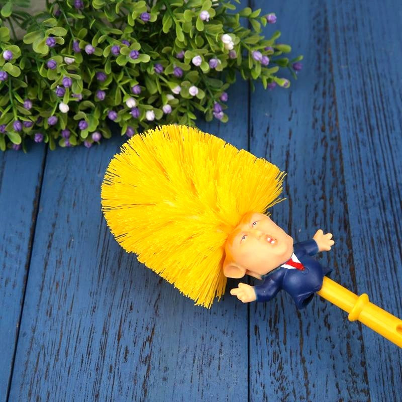 Donald Trump Toilet Brush Creative Funny Gift  Bathroom Washroom Cleaning Tools Brushes