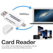 Load image into Gallery viewer, 2019 New Multifunctional OTG Card Reader Micro SD / SD Card / USB Reader