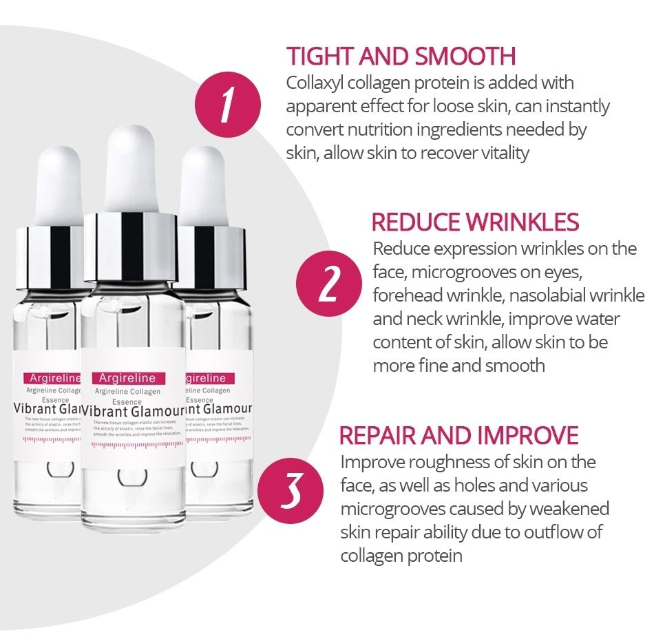 VIBRANT GLAMOUR Argireline Collagen Peptides Face Serum Cream Anti-Aging Wrinkle Lift Firming Whitening Moisturizing Skin Care5ml/10ml/20ml/30ml