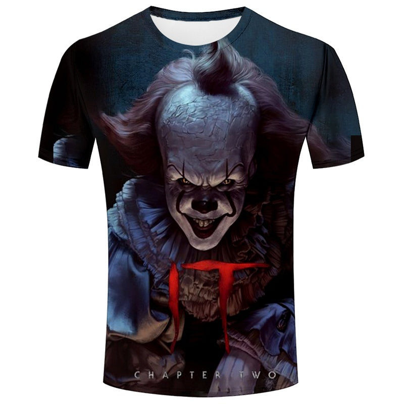 New 3D Print IT Pennywise Clown Stephen King Funny T-Shirt