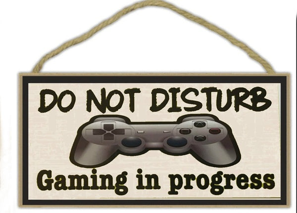 Do Not Disturb Gaming In Progress  Sign Gamer Gaming Bedroom Gifts Funny Novelty Christmas Birthday New Year Gift for Son Brother Boyfriend