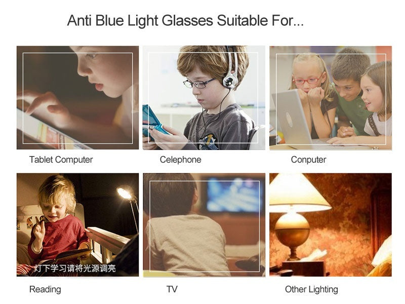 Vintage Blue Light Kids Glasses Children Optical Frame For Boy Girl Transparent Sun Glasse Anti Glare Computer Prescription UV