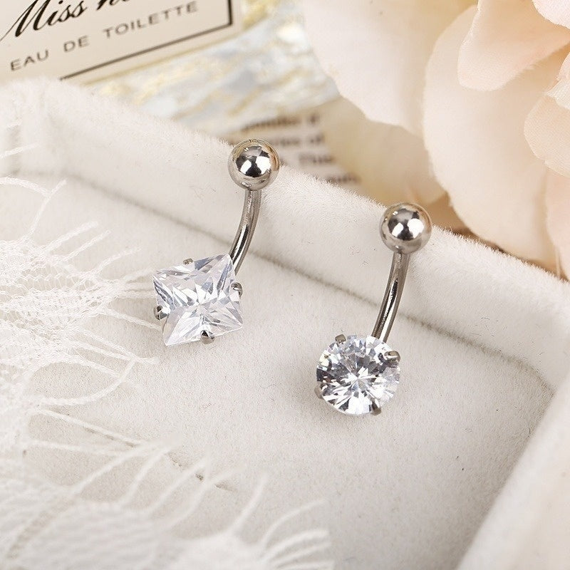 Fashion Crystal Navel Ring Belly Button Rings Defense Allergy for women Sexy Piercing Navel Nail for girs Body Jewelry
