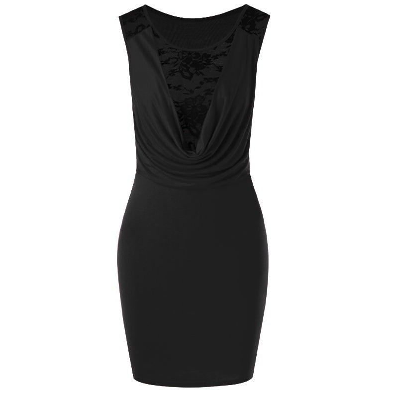 Summer Newest Women Sexy Deep V-neck Party Dress Sleeveless Lace Ladies Plus Size Dress Slim Bodycon Dress
