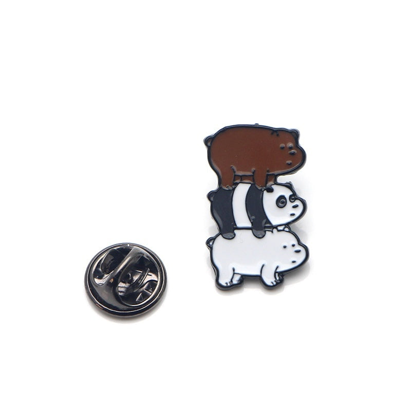 1 Pcs Gremlins Funny Brooch We Bare Bears Enamel Pin Cartoon Character Invader ZIM Metal Pins Icon on The Backpack Pin Badges for Clothing NC0225