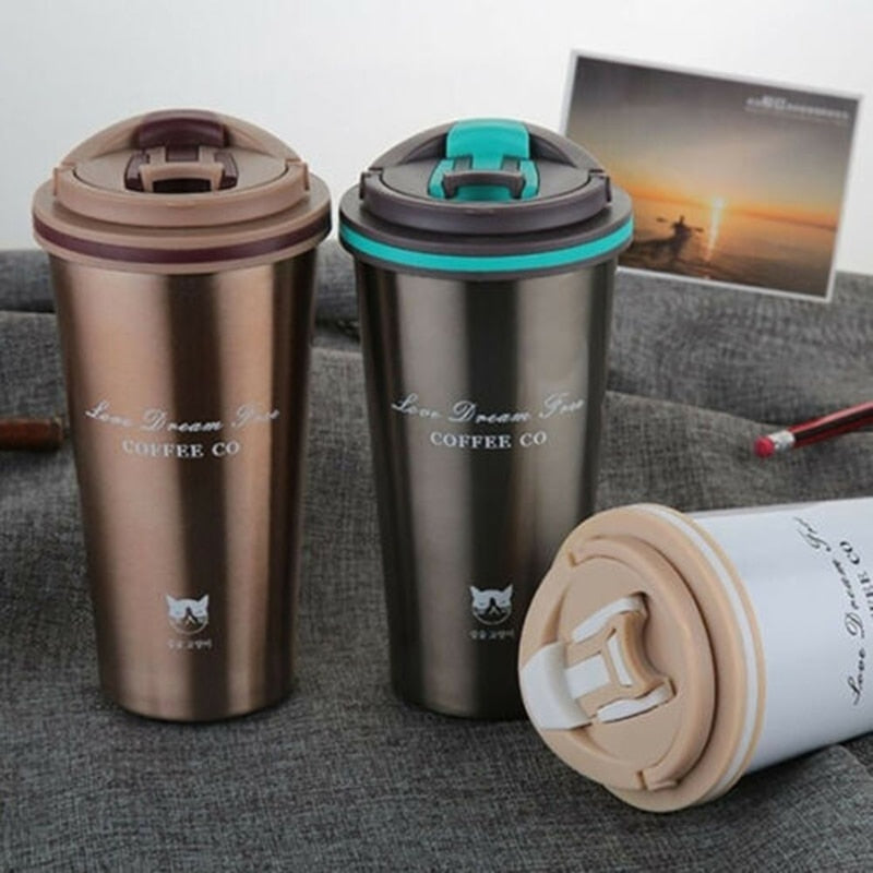 Travel Coffee Mug Stainless Steel