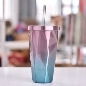 Drinking Cup With Lid And Straw Tumbler