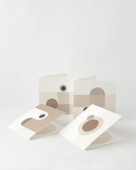 Set of 4 - Abstract Greeting Card Set