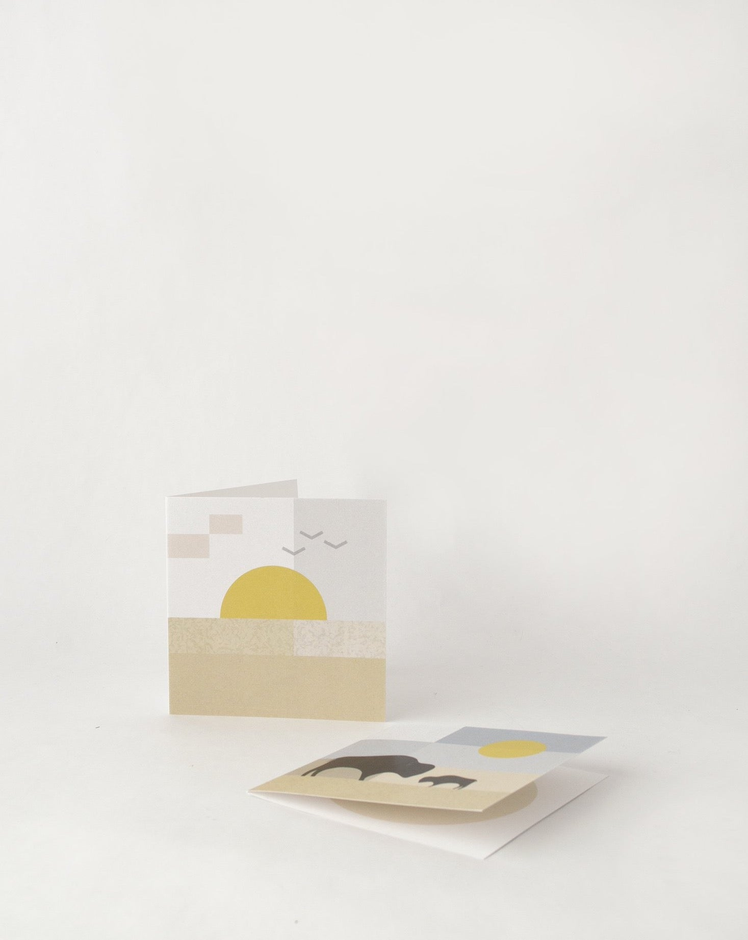 Set of 4 - Prairie Theme Greeting Cards