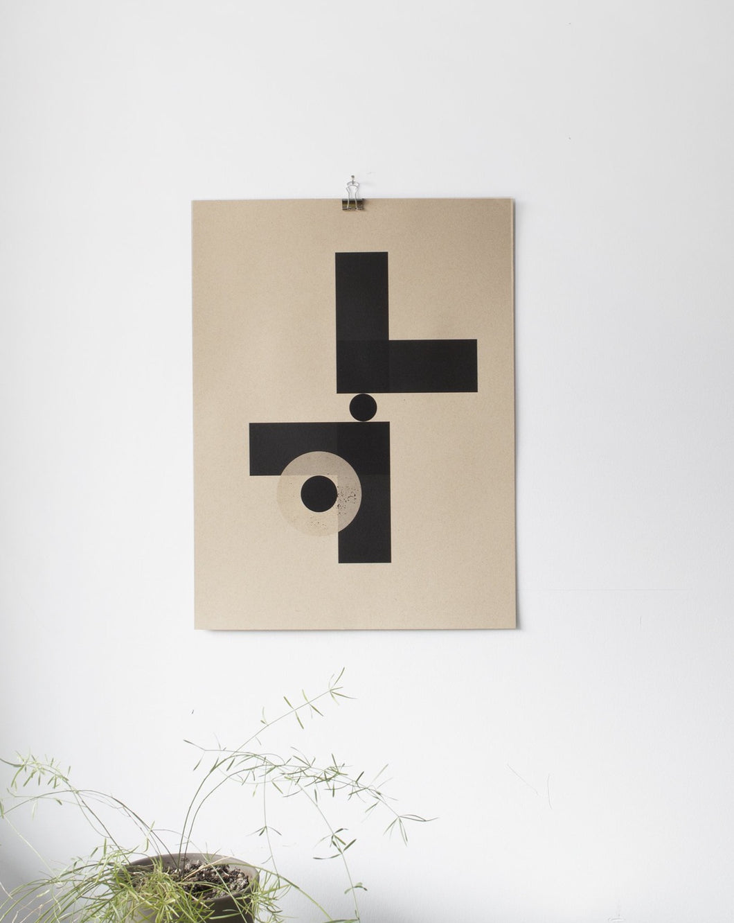 Geometric Black Shapes and Kraft Paper 1