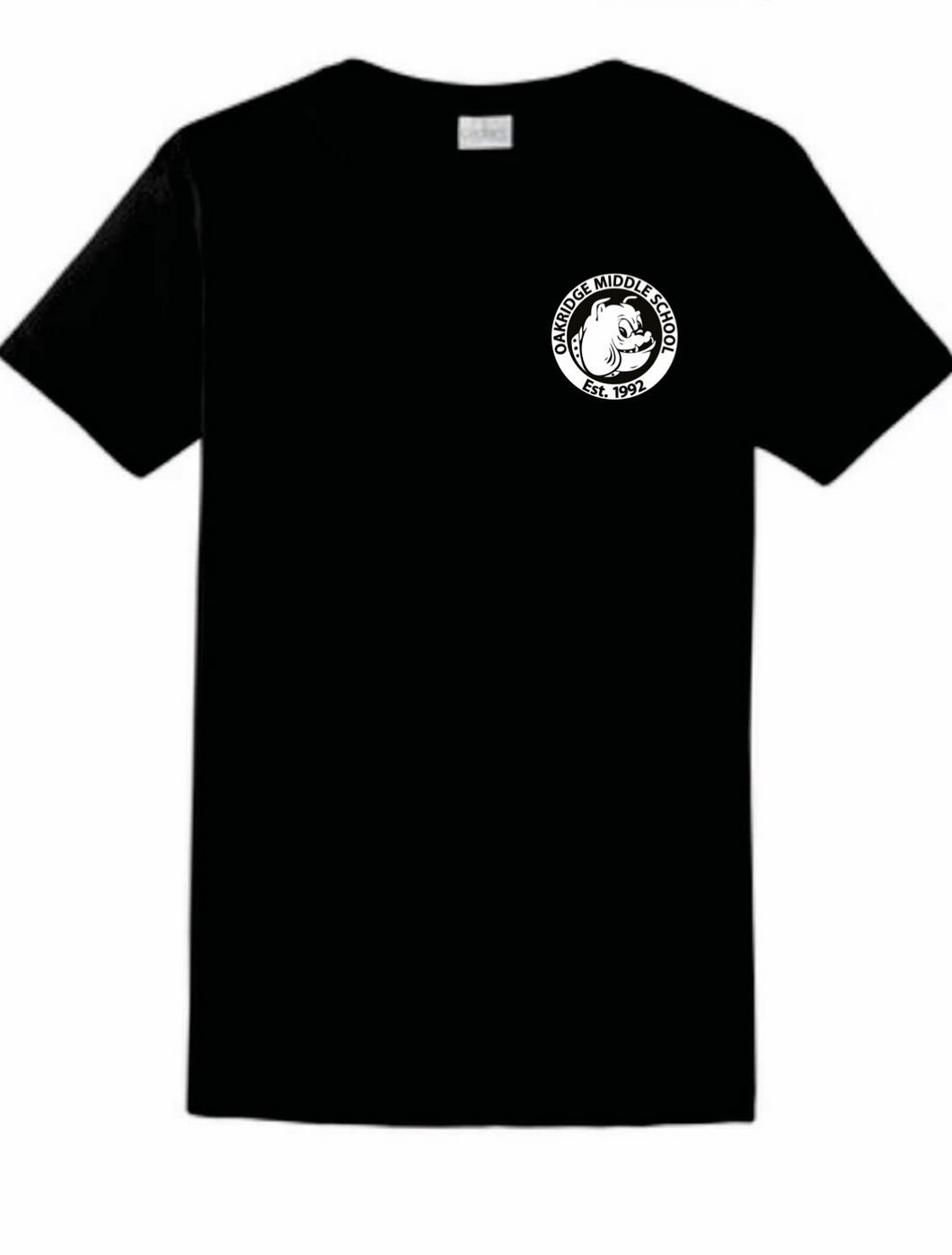 Ladies Black OMS Logo T-Shirt