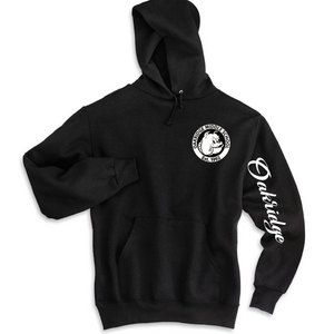 Oakridge Black Hooded Sweatshirt